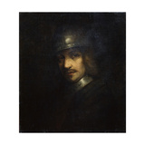 Portrait of a Man with Helmet, 17th Century Lámina giclée por Ferdinand Bol