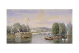 The River Thames with Richmond Bridge and Richmond Hill in the Distance, London, 1867 Giclee Print by George Henry Andrews