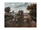 Stage-Coach, 1827 Giclee Print by George Hunt
