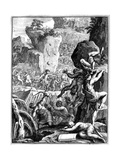 Forces under Alaric I, King of the Visigoths, in Battle, C410 (165) Giclee Print by Francois Chauveau
