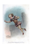 Prince Arthur Leaping from the Tower, 1897 Giclee Print by Frances Brundage