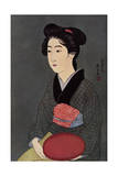 A Japanese Waitress with a Tray, 1920 Giclee Print by Hashiguchi Goyo