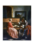 A Man and a Woman Seated by a Virginal, C1649-1667 Giclee Print by Gabriel Metsu