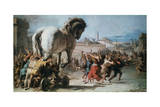 The Procession of the Trojan Horse into Troy, C1760 Giclee Print by Giovanni Battista Tiepolo