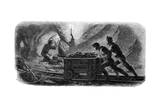 Quartz Mining, California, 1859 Giclee Print by Gustave Adolphe Chassevent-Bacques