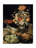 Still Life with Flowers and Snack, C1630-C1635 Giclee Print by Georg Flegel