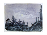 Fantasy Castle in Moonlight Ii, 1820-1876 Giclee Print by George Sand