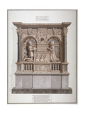 Monument to Richard Allington in Rolls Chapel, Chancery Lane, City of London, 1800 Giclee Print by Frederick Nash