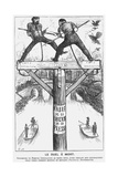 Le Duel À Mort, 1869 Giclee Print by George Du Maurier