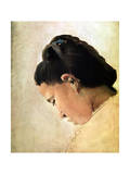 Tete De Jeune Fille, Late 19th Century Giclee Print by Georges Seurat