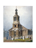 Church of St Anne, Dean Street, Soho, London, 1828 Giclee Print by George Shepherd