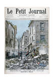 Serious Disorders and Rioting in Milan, Italy, 1898 Giclee Print by Henri Meyer