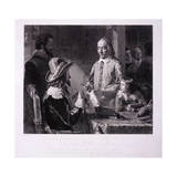 William Harvey Demonstrating to King Charles I His Theory of the Circulation of the Blood, 1851 Giclee Print by H Lemon