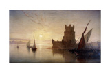 Lisbon - Castle of Balem, 1850 Giclee Print by Frank Dillon