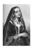 Elizabeth Woodville (1437-149), Queen Consort of King Edward IV, 1851 Giclee Print by H Austin