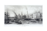 Custom House and River Thames, 1839 Giclee Print by Frederick James Havell