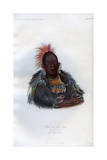 Wah-Ro-Nee-Sah, the Surrounder, an Otoe Chief, 1848 Giclee Print by  Harris