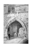 View of King John's Gate in the Abbey of St Saviour, Bermondsey, London, 1807 Giclee Print by George Shepherd