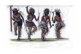 The War Dance, by the Ojibbeway Indians, 1848 Giclee Print by  Harris
