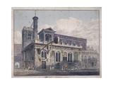 St Dunstan in the West, London, 1811 Giclee Print by George Shepherd