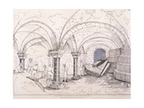 Crypt of St Mary-Le-Bow, C1819 Giclee Print by Frederick Nash