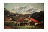 A Hut in the Mountains, C1874 Impression giclée par Gustave Courbet