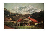 A Hut in the Mountains, C1874 Giclee Print by Gustave Courbet