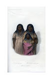 Native American Women and Child, 1848 Giclee Print by  Harris