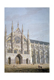 North Door of Westminster Abbey, London, C1810 Giclee Print by George Shepherd