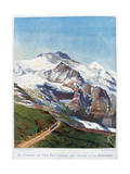 The Electric Railroad to Mount Jungfrau, Swiss Alps, 19th Century Giclee Print by Gustave Francois Lasellaz