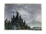 Fantasy Castle in Moonlight I, 1820-1876 Giclee Print by George Sand