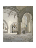 Interior South-West View of the Church of St Helen, Bishopsgate, City of London, 1820 Giclee Print by Frederick Nash