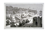 Bird's-Eye View of the Bishop of Winchester's Palace, Southwark, London, C1820 Giclee Print by George Shepherd