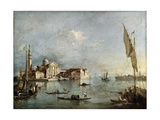 View of the San Giorgio Maggiore Island, Between 1765 and 1775 Giclee Print by Francesco Guardi