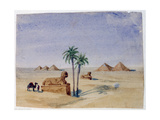 Sphinx and Pyramids, Giza II, 1820-1876 Giclee Print by George Sand