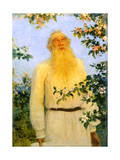 Portrait of the Author Leo N Tolstoy, 1912 Giclee Print by Il'ya Repin