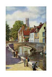 Bridge and Green Quay, Bruges, Belgium, C1924 Giclee Print by Horace W Nicholls