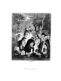 Resurrectionists or Body Snatchers Raiding a Cemetery to Provide a Cadaver for Dissection, 1887 Giclee Print by Hablot Knight Browne
