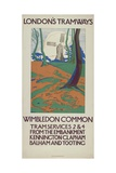 Wimbledon Common, London County Council (Lc) Tramways Poster, 1923 Giclee Print by GW Widmer