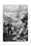Hydraulic Mining, California, 1859 Giclee Print by Gustave Adolphe Chassevent-Bacques