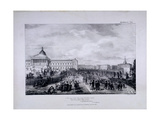 View of University College School's Playground with University College to the Right, 1833 Giclee Print by George Scharf
