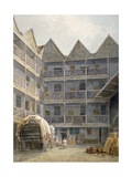 View of the Yard at the Bull and Mouth Inn, St Martin's Le Grand, City of London, 1817 Giclee Print by George Shepherd