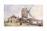 A Windmill on Blackheath, Greenwich, London, 1833 Giclee Print by George Shepheard