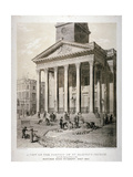 Portico of the Church of St Martin-In-The-Fields, Westminster, London, 1842 Giclee Print by George Scharf