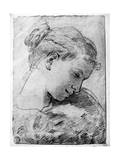Study of a Girl's Head, 18th Century Giclee Print by Gaetano Gandolfi
