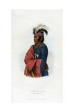 Not-Een-A-Akm, the Strong Wind, the Interpreter, 1848 Giclee Print by  Harris