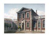 Barber Surgeons' Hall and Courtyard, City of London, 1812 Giclee Print by George Shepherd
