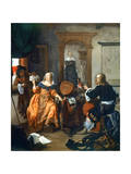 A Musical Party, 1659 Giclee Print by Gabriel Metsu
