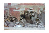 Death of St Francis and Inspection of Stigmata, C1320 Giclee Print by  Giotto