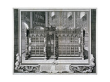 Monument to Henry VII and Queen Elizabeth in the King's Chapel, Westminster Abbey, London, 1735 Giclée-Druck von George Vertue